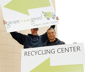 gone for good recycling center