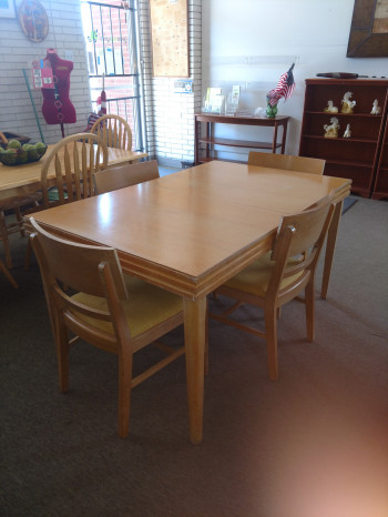 Blonde Dining Room Set
