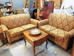 Gold Paisley Couches
